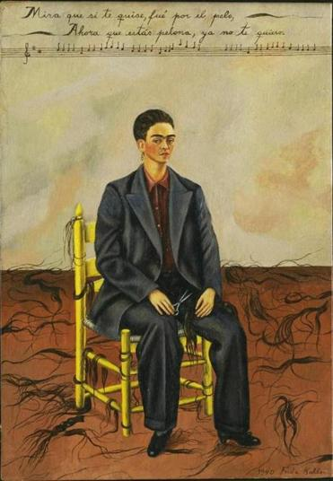 "Frida Kahlo's ""Self Portrait with Cropped Hair."""